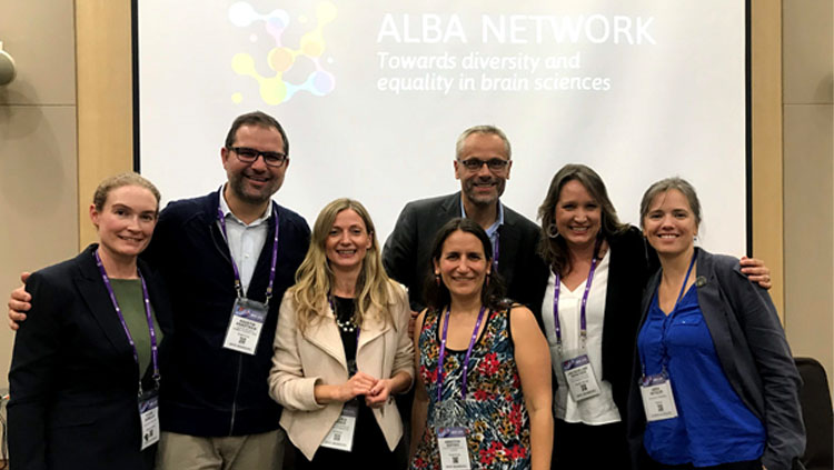 The ALBA Network team stands together for a picture