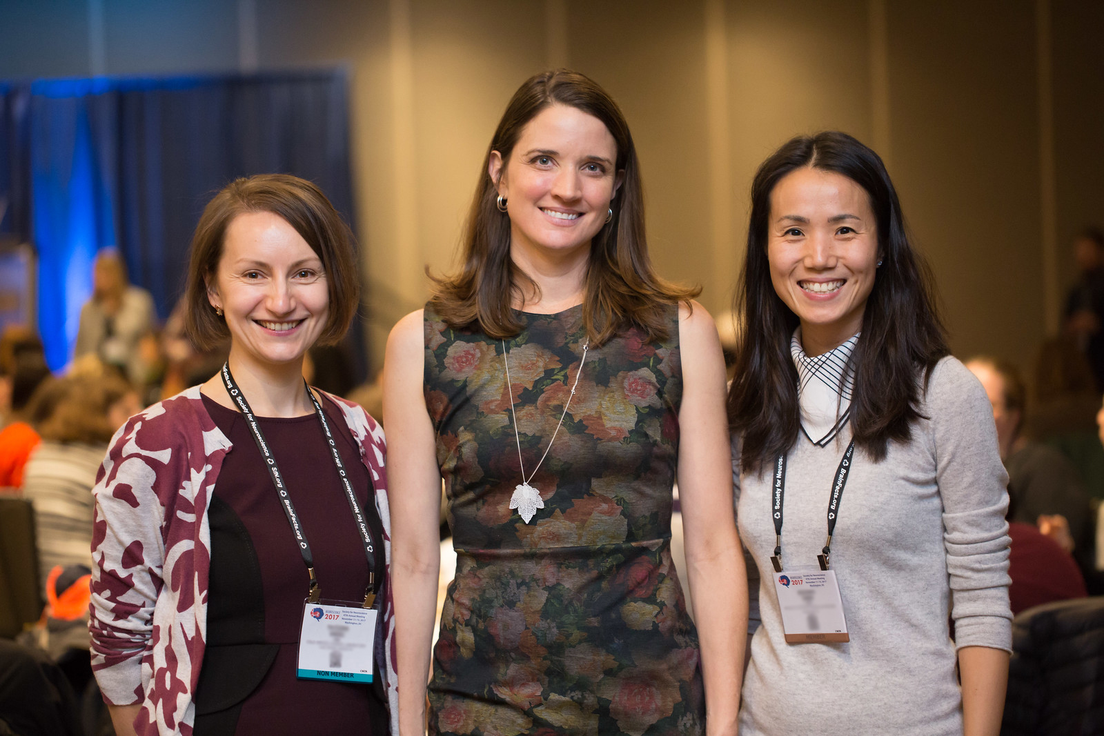 Three Neuroscience 2017 Celebration of Women in Neuroscience luncheon attendees