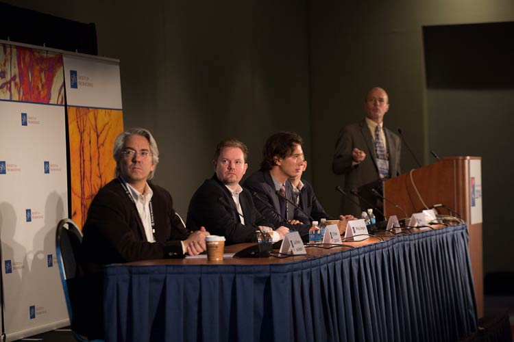 At the press conference Advances Through Stem Cell Research, scientists share their latest discoveries and their importance to human health.