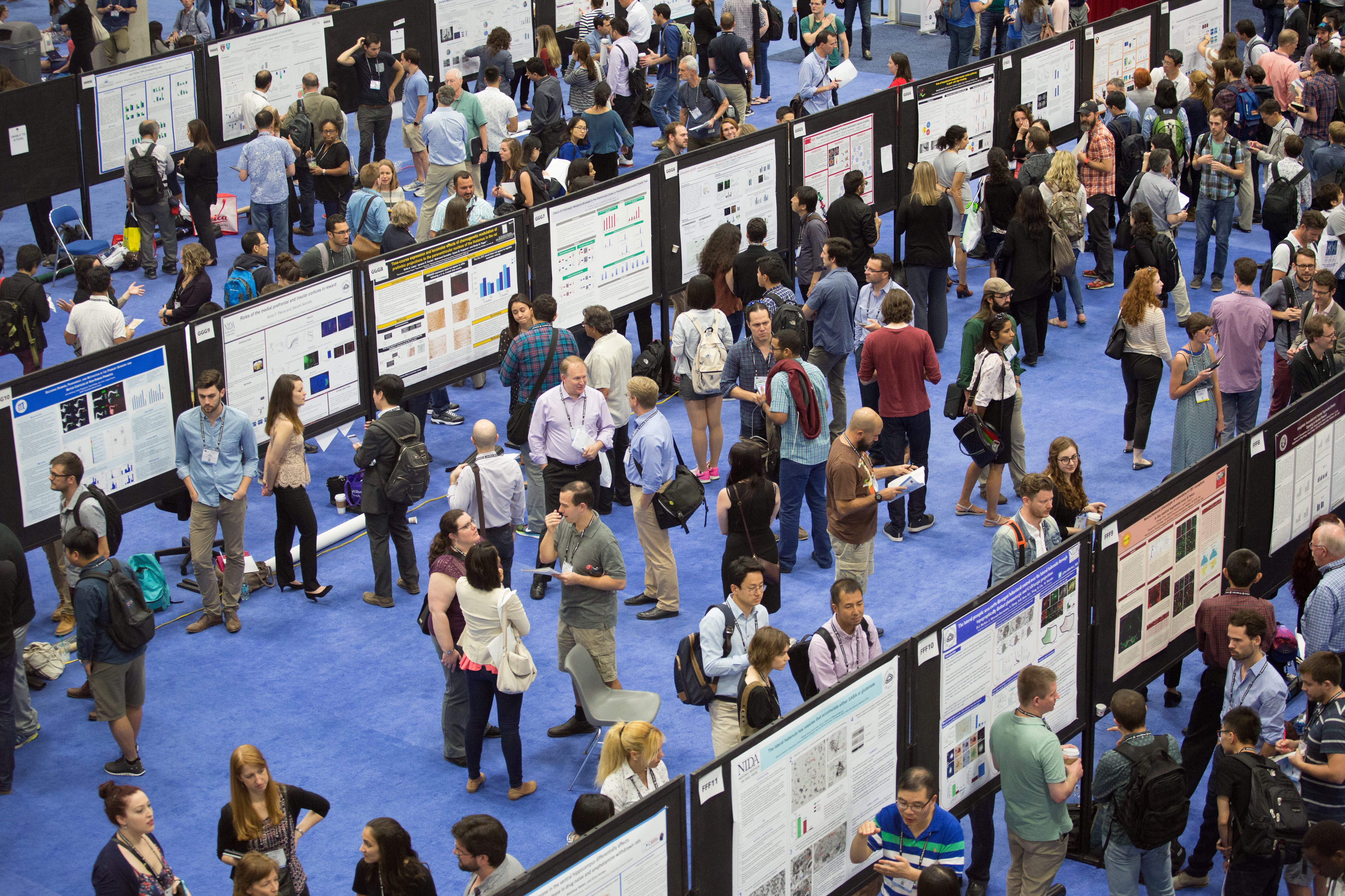 The crowded poster floor at the annual meeting