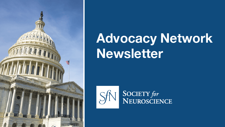 Advocacy Network Newsletter advertisement with photo of the US Capitol building