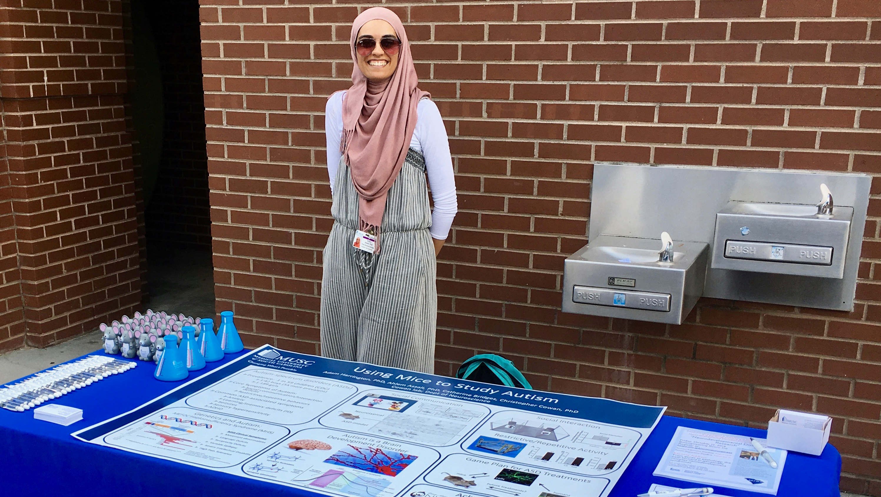 """Neuroscience advocates hosted an """"autism awareness"""" event at a Charleston Riverdogs minor league baseball game. This is one example of ways advocates can increase awareness of brain research in their local community."""