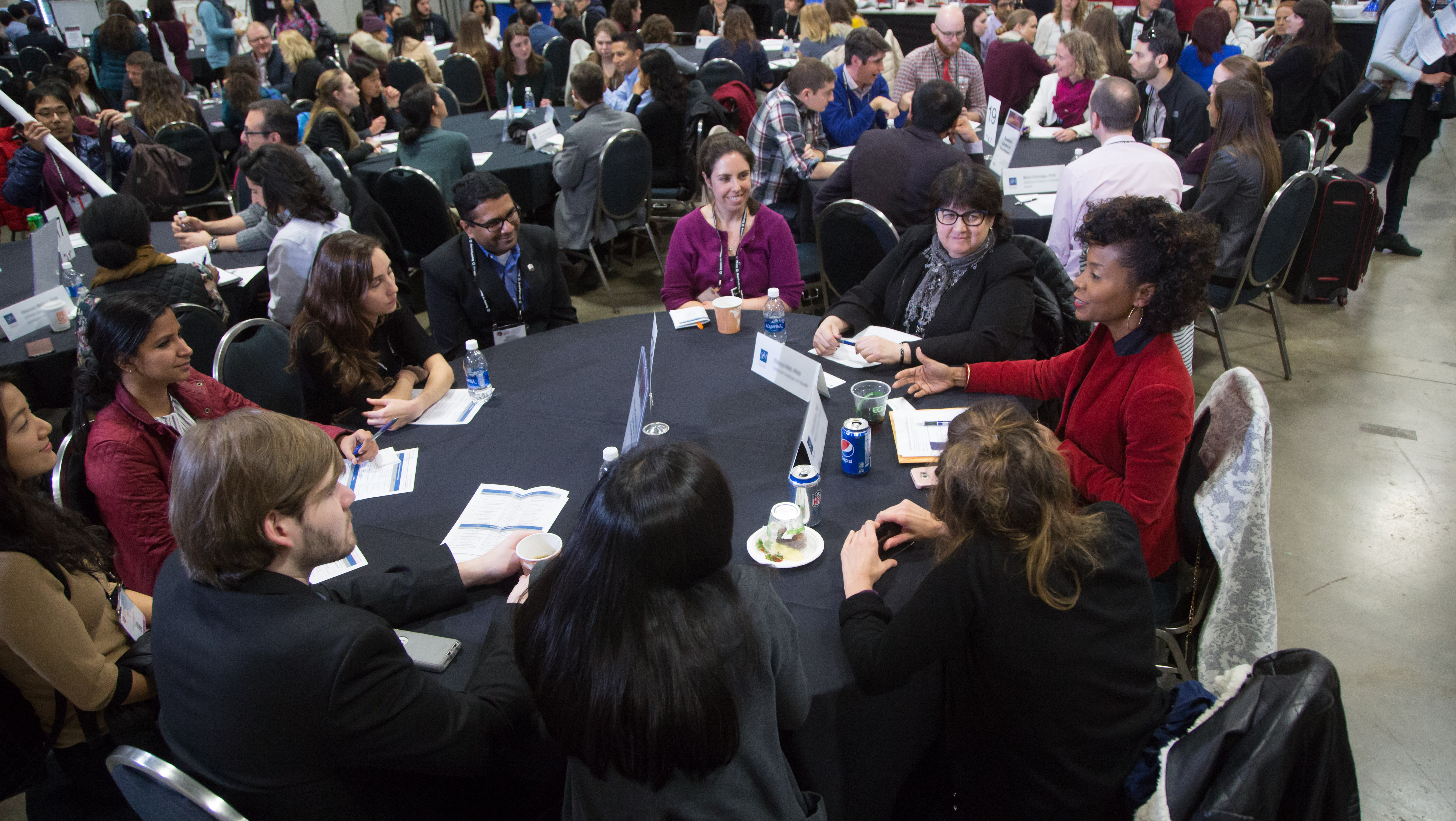 """""""Career Development Topics: A Networking Event"""" is one of many events offered at SfN's annual meeting that encourages attendees to collaborate and share experiences that can help them in their careers."""