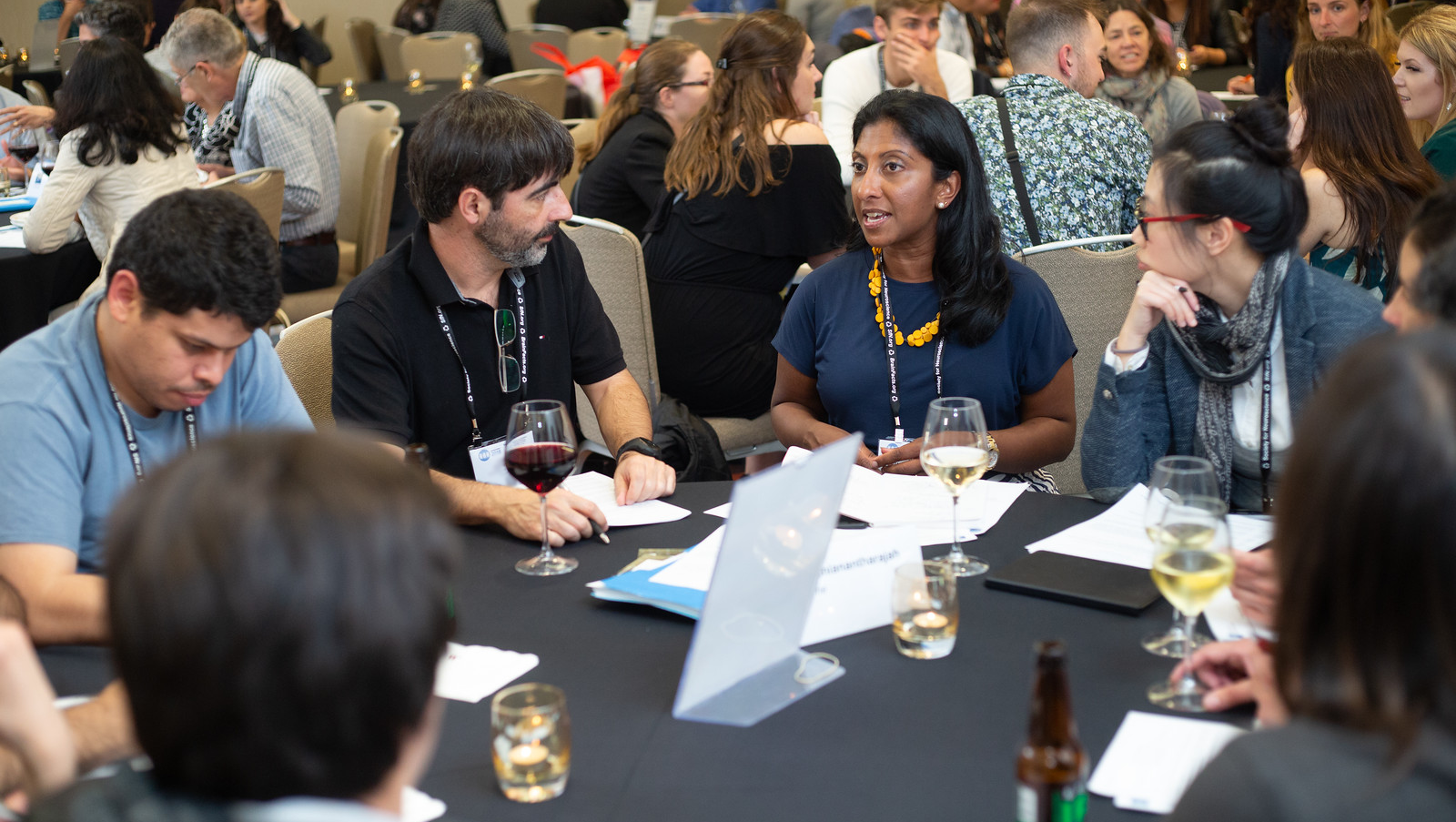 A discussion at one of the Neuroscience 2018 workshops.