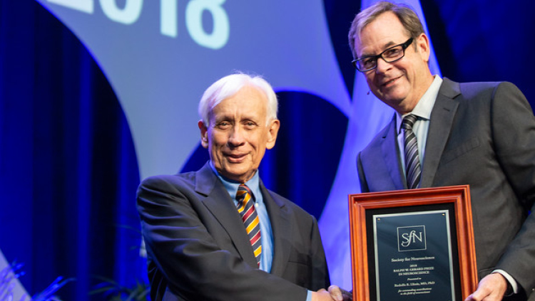 Rodolfo R. Llinas, MD, of the New York University School of Medicine, is honored with the Ralph W. Gerard Prize.